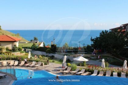 55 sq.m. studio with sea-view in Garden of Eden, St. Vlas